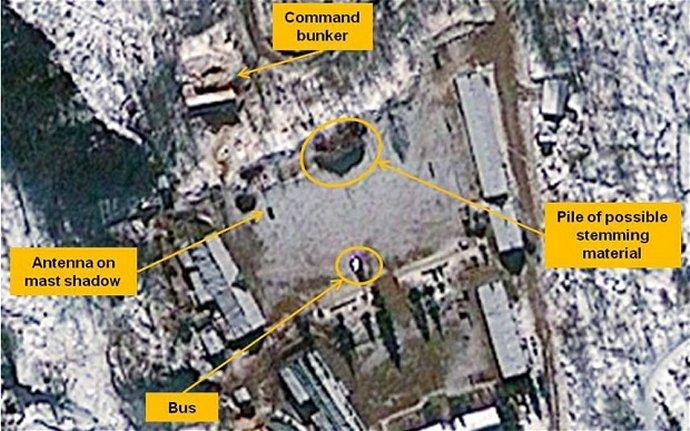 De vermoedelijke testlocatie van de kernproef in Noord-Korea