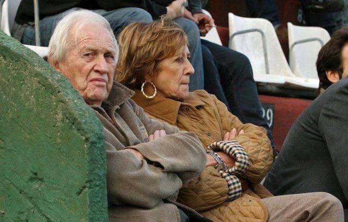 Jorge Zorreguieta met zijn vrouw Maria del Carmen Cerruti, 2009