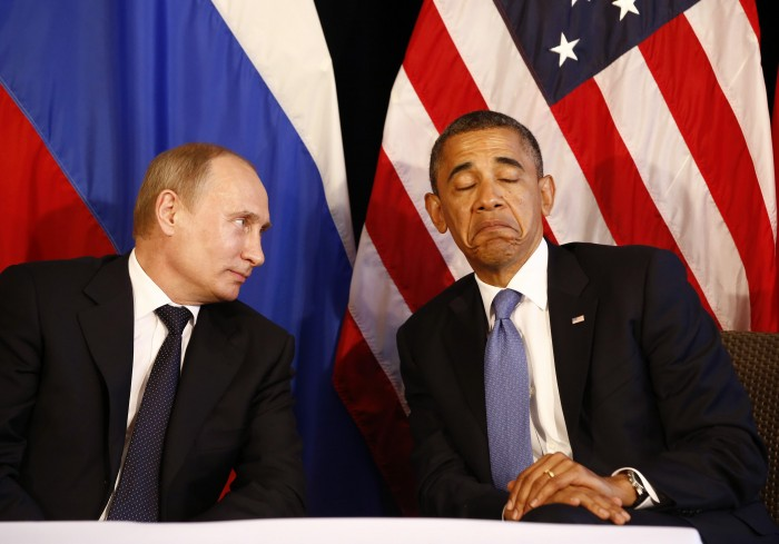 File photo of U.S. President Obama meeting with Russian President Putin in Los Cabos