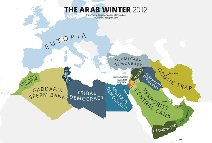 Atlas of Prejudice, Arab Winter 2012