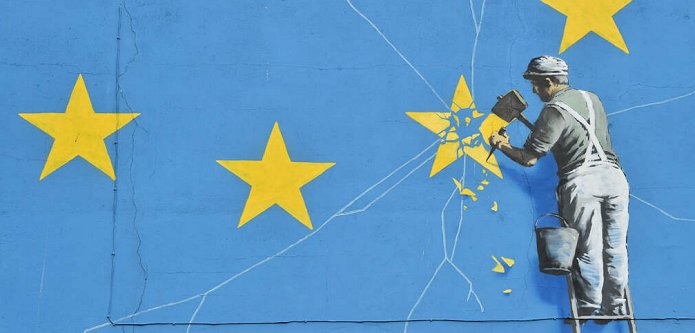 Brexit-statement Banksy vernield